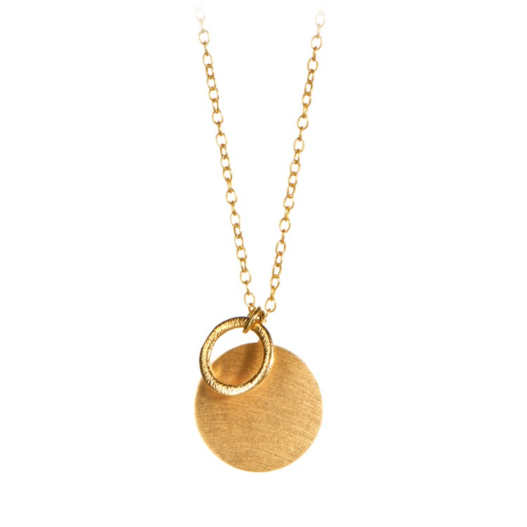 Pernille Corydon - coin and circle  necklace
